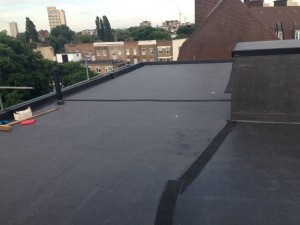 Rubber work on flat roof