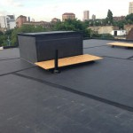 Finished EPDM roof