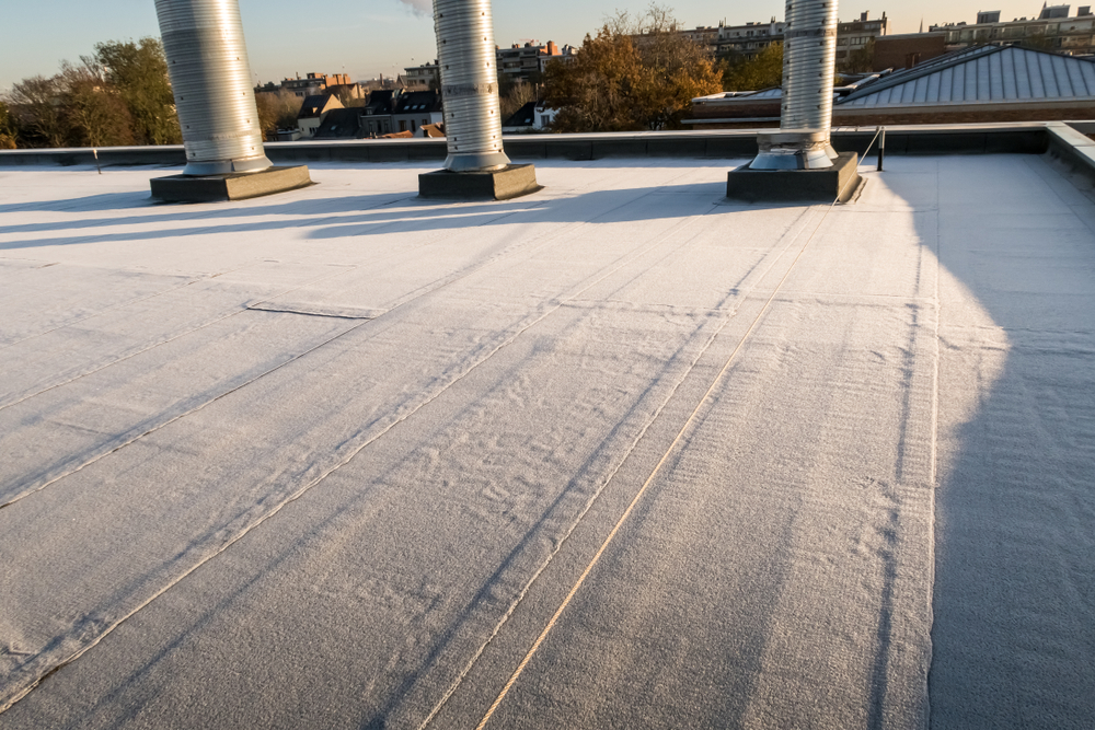EPDM Rubber Roof Winter