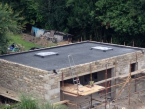 Finished Rubber Roofing Garage Project